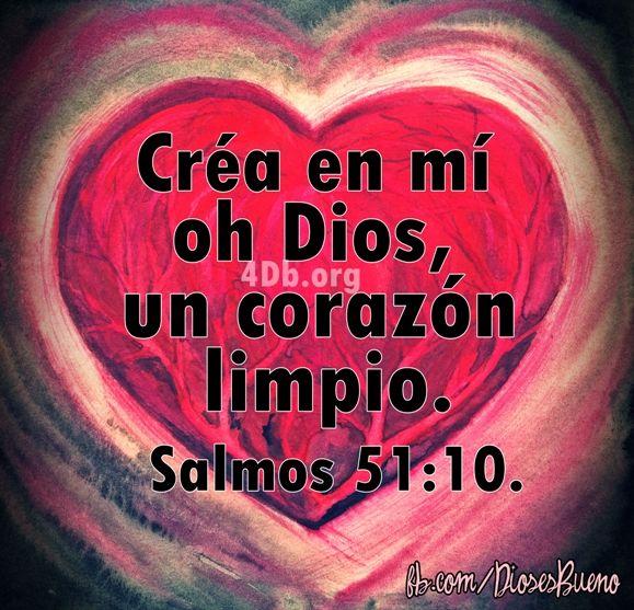 Dios Te Habla Salmo 51:10 Imagenes de Dios Es Bueno Para compartir en Facebook