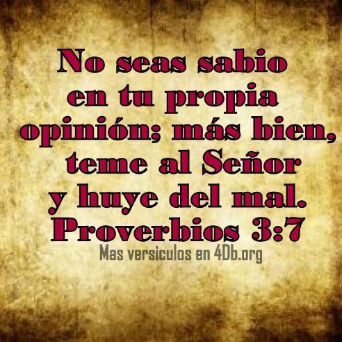 Proverbios 3:7 Palabras Que Fortalecen Imagenes de Dios Es Bueno Para compartir en Facebook