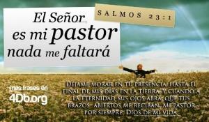 Salmo 23 versiculo 1 El Señor es mi pastor y nada me faltara imagen para compartir Dios Es Bueno (1)