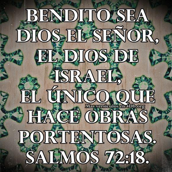 Salmos 72:18 Palabras Que Fortalecen Imagenes de Dios Es Bueno Para compartir en Facebook