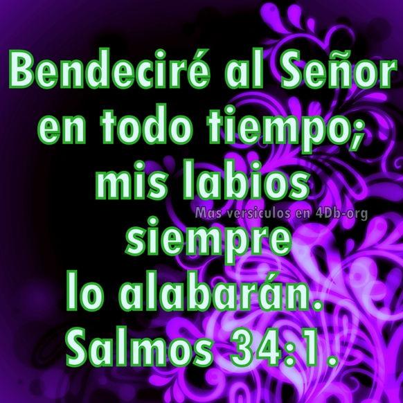 Salmos 34:1 Palabras Que Fortalecen Imagenes de Dios Es Bueno Para compartir en Facebook