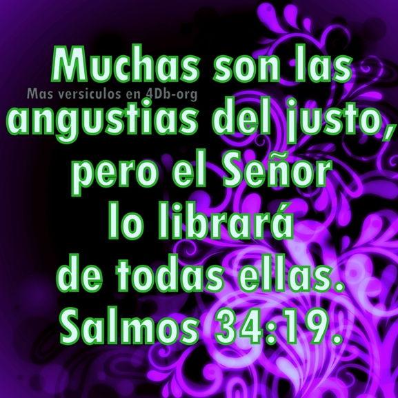 Salmos 34:19 Palabras Que Fortalecen Imagenes de Dios Es Bueno Para compartir en Facebook