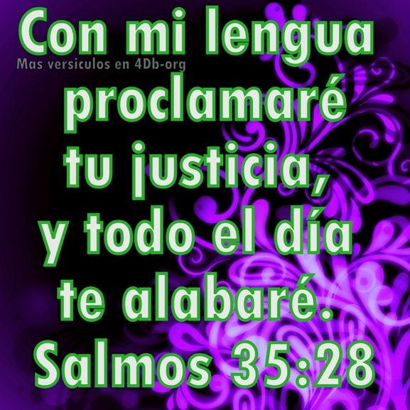 Salmos 35:28 Palabras Que Fortalecen Imagenes de Dios Es Bueno Para compartir en Facebook