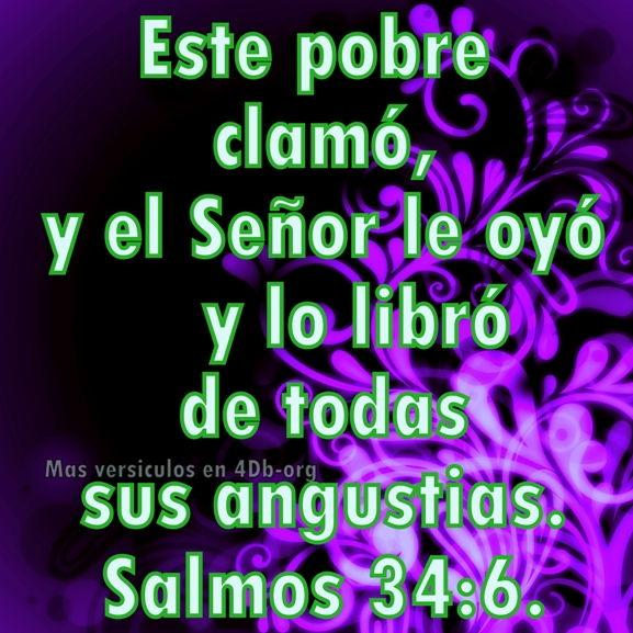 Salmos 34:6 Palabras Que Fortalecen Imagenes de Dios Es Bueno Para compartir en Facebook