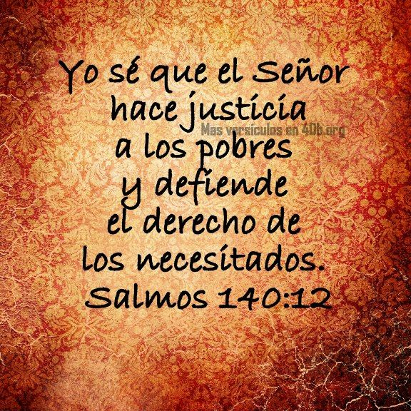 Dios Es Bueno Frases y Reflexiones Salmos 140:12.