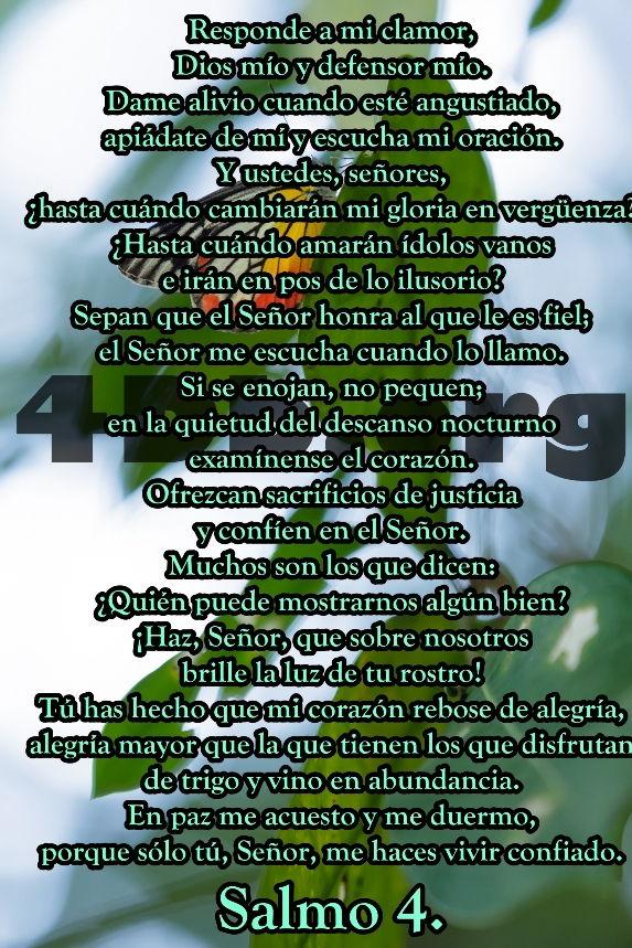 Salmo 4 Responde a mi clamor.