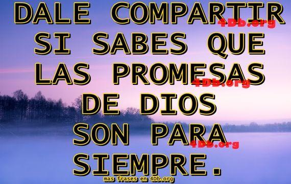 Las promesas de Dios.