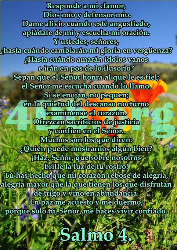 Salmo 4 Apiádate de mi.