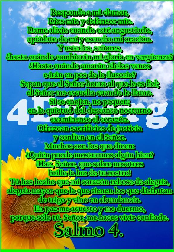 Salmo 4 Escucha mi oración.