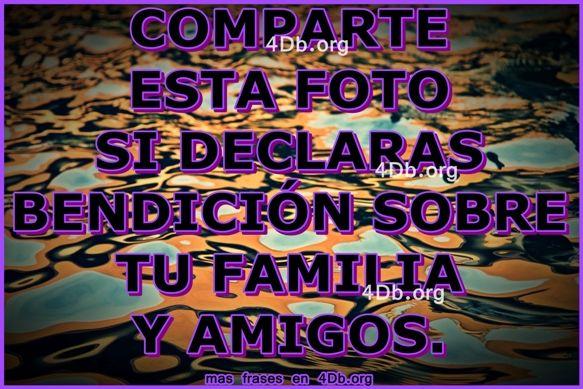 Versiculos De La Biblia De Animo: Declara Bendición Sobre Tu Familia Y Amigos.