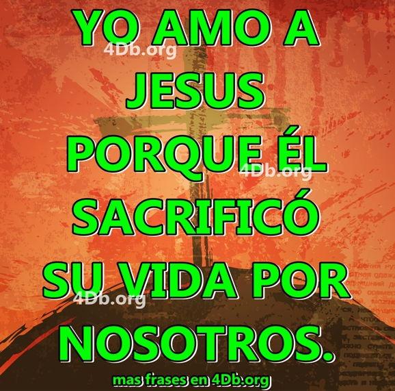 Yo amo a Jesús.