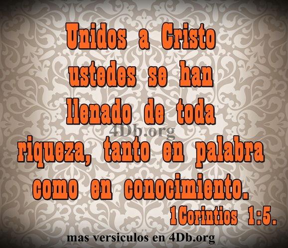 Unidos a Cristo 1 Corintios 1:5