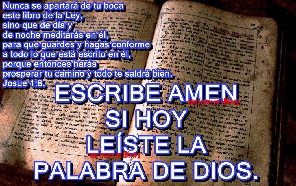 Versiculos De La Biblia De Animo: Lee La Palabra De Dios. Josué 1:8
