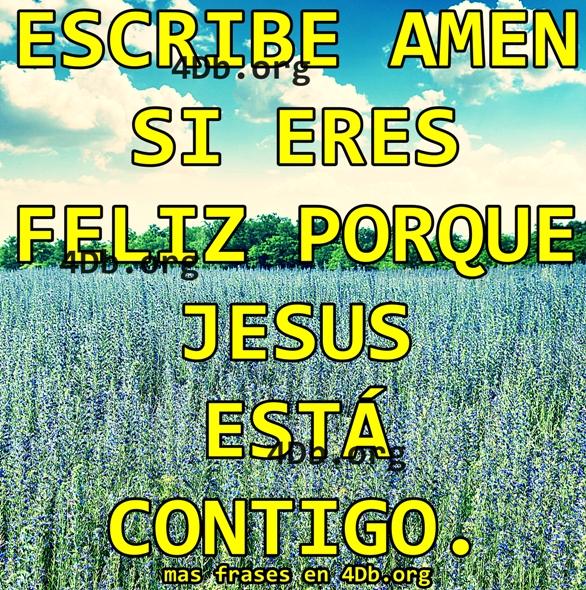 Jesús esta contigo.