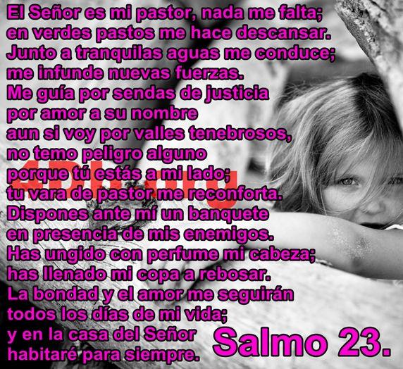Salmo 23 Me hará descansar.