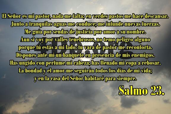 Salmo 23 Confortara mi alma.