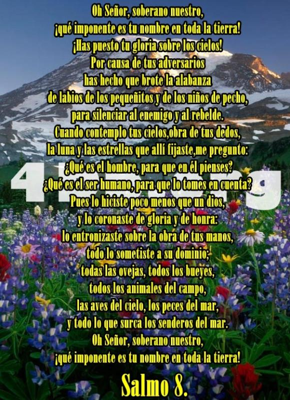 Salmo 8 Dios Es Amor, Dios Es Bueno, Reflexiones Frases Palabras de animo y consuelo, recursos cristianos, versiculos diarios de la biblia  (1)