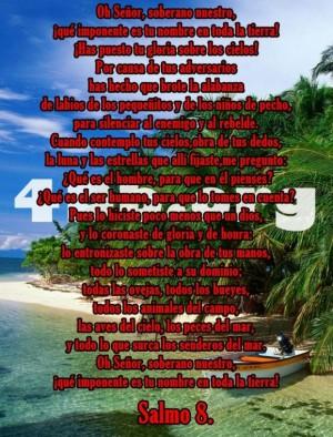 Salmo 8 Dios Es Amor, Dios Es Bueno, Reflexiones Frases Palabras de animo y consuelo, recursos cristianos, versiculos diarios de la biblia  (3)