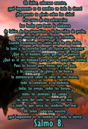 Salmo 8 Dios Es Amor, Dios Es Bueno, Reflexiones Frases Palabras de animo y consuelo, recursos cristianos, versiculos diarios de la biblia  (4)