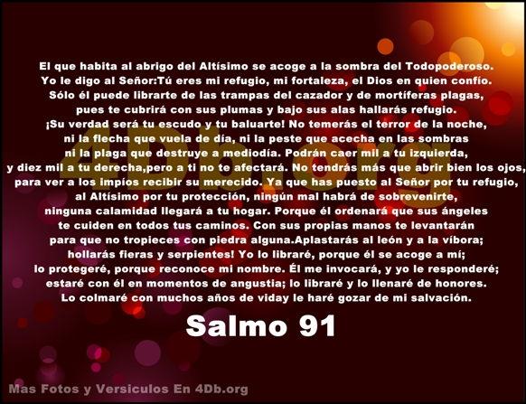 Salmo 91 porque reconoce mi nombre