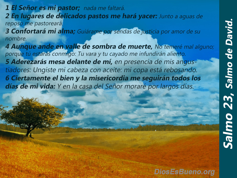 Salmo 23 En lugares