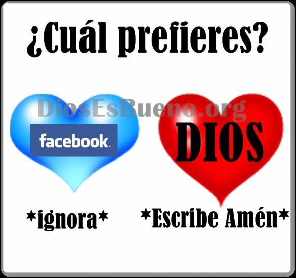 Cual Prefieres? Facebook o Dios