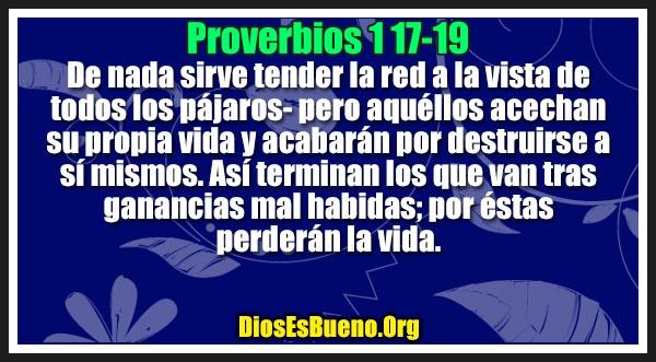 Proverbios 1:17-19