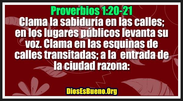 Proverbios 1:20-21