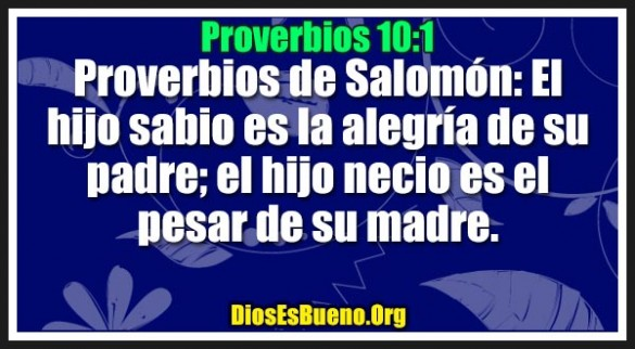 Proverbios 10:1
