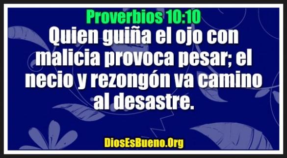 Proverbios 10:10