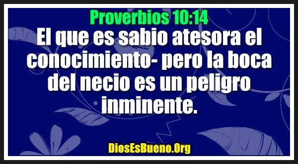 Proverbios 10:14
