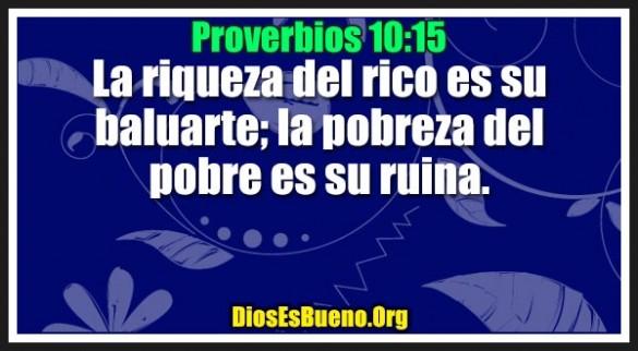 Proverbios 10:15