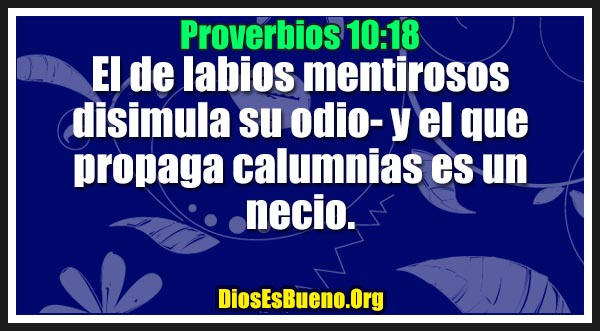 Proverbios 10:18