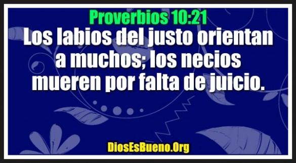 Proverbios 10:21