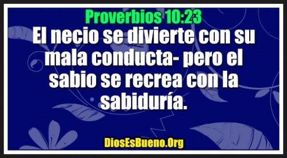 Proverbios 10:23
