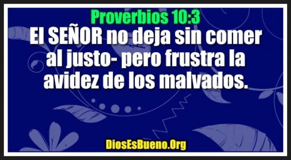 Proverbios 10:3