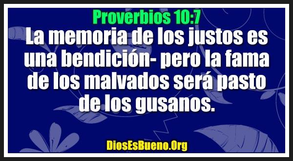 Proverbios 10:7