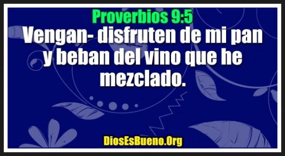 Proverbios 9:5