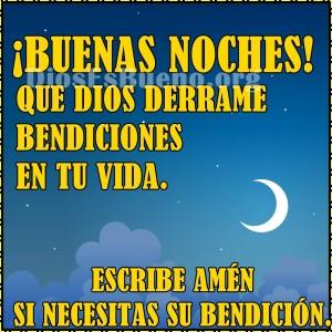 Buenas noches que Dios derrame bendiciones en tu vida