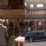 Pastor llega en carro fUnebre al servicio del domingo