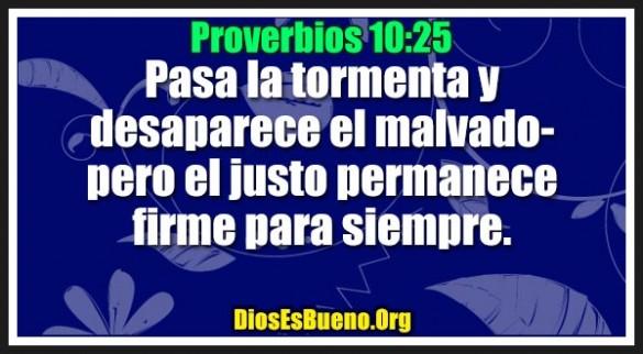 Proverbios 10:25