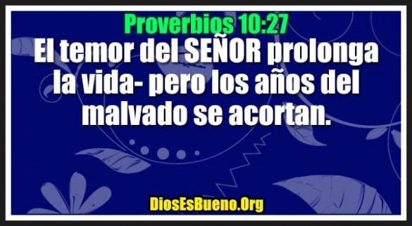 Proverbios 10:27