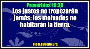 Proverbios 10:30