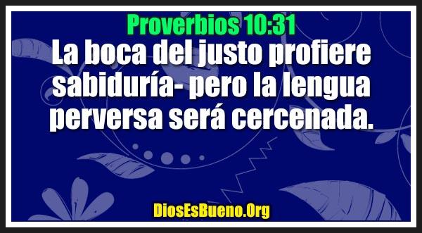 Proverbios 10:31