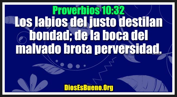 Proverbios 10:32
