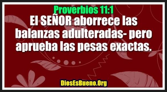 Proverbios 11:1