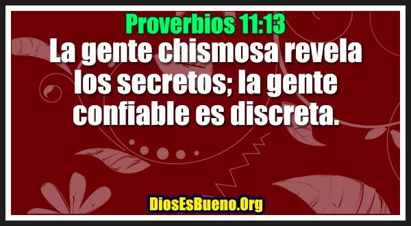 Proverbios 11:13