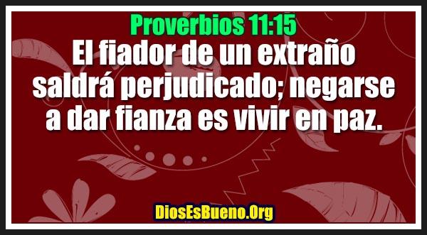 Proverbios 11:15