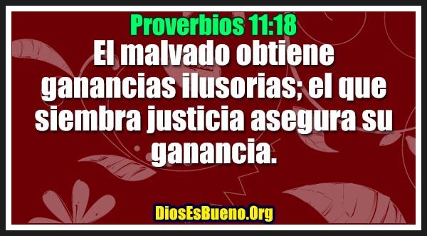 Proverbios 11:18