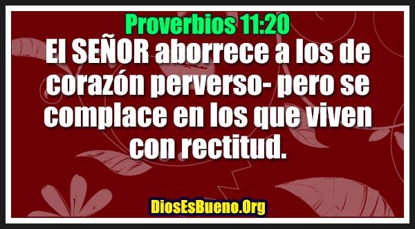 Proverbios 11:20